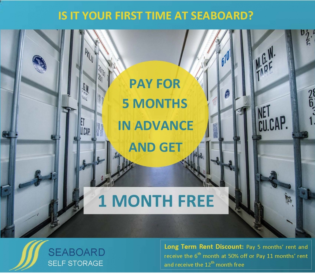 Self Storage 6 Month Promotion